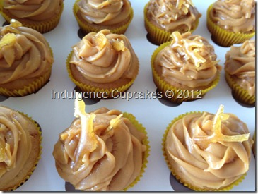 Salted caramel cupcakes with dulce de leche